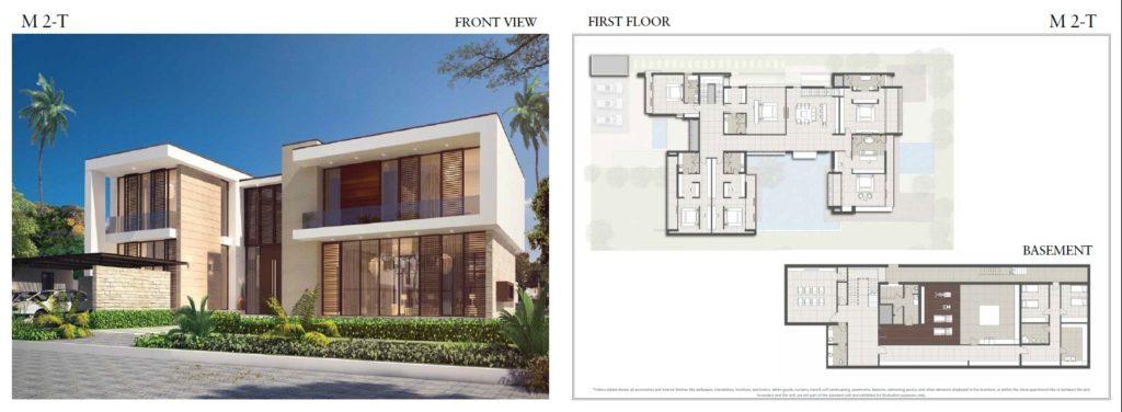 trump 3 bhk villas floor plan