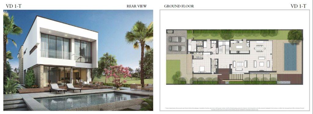 trump villas floor plan vd 1t rear view