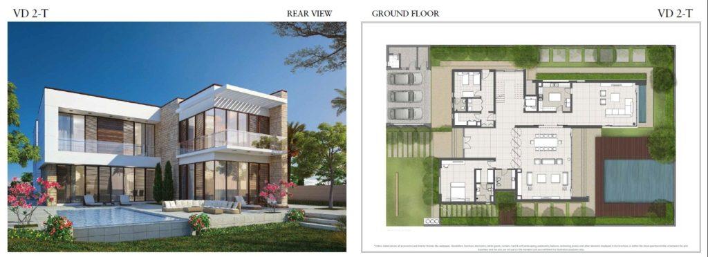 trump villas floor plan vd 2t Front View