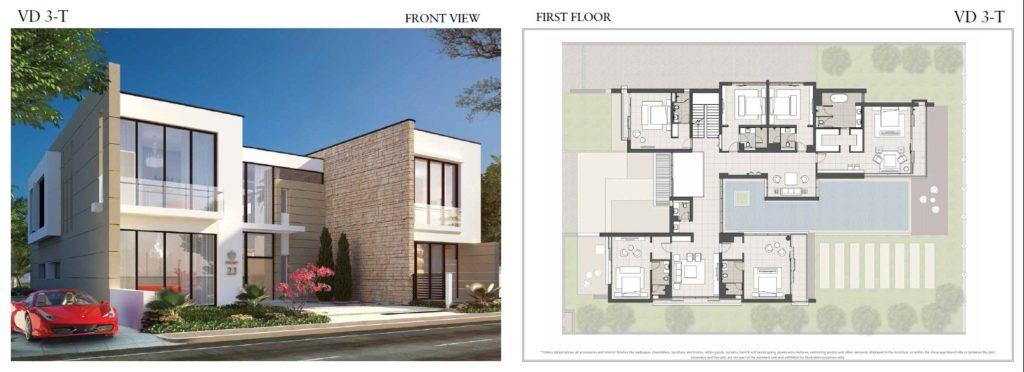 trump villas floor plan vd 3t front View