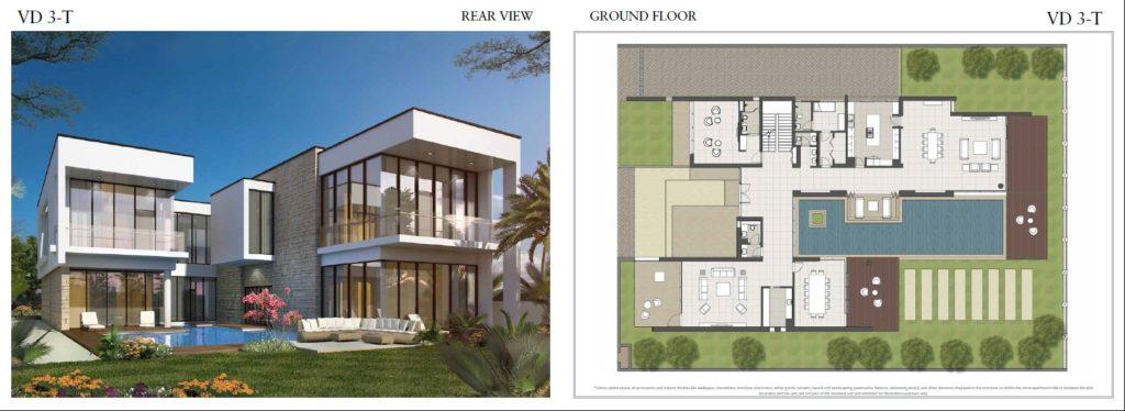 trump villas floor plan vd 3t rear View