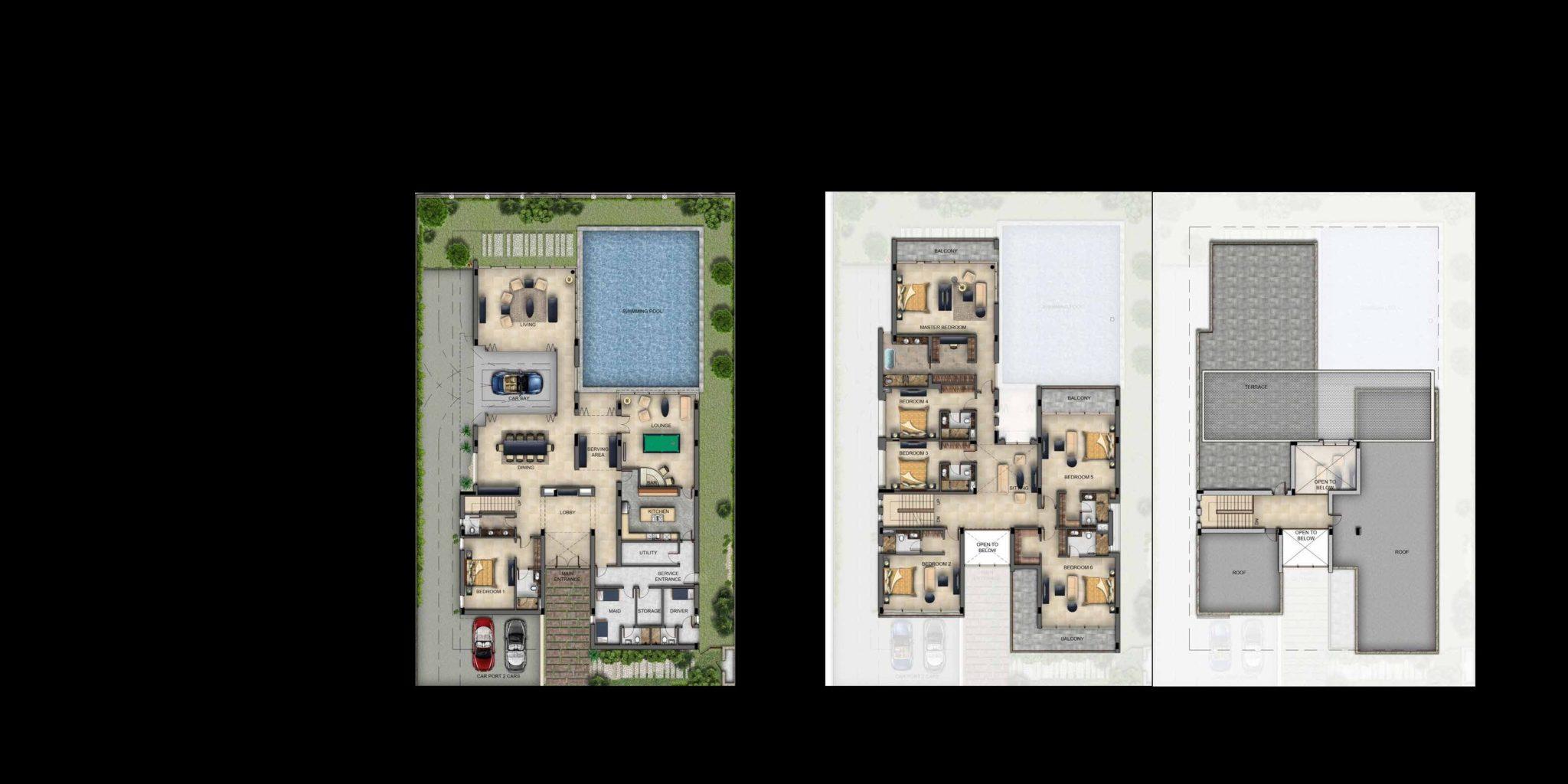 Akoya Oxygen Buggati Villas floor plan
