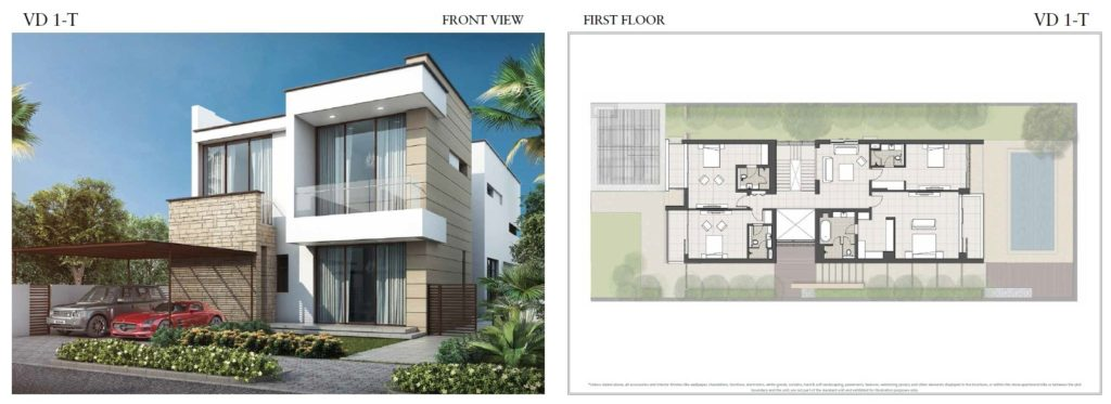 trump villas floor plan vd 1t Front View