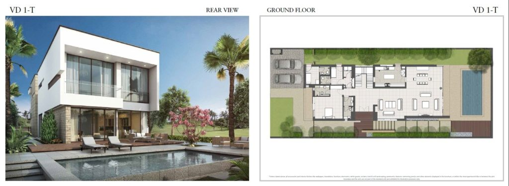 trump villas floor plan vd 1t rear view