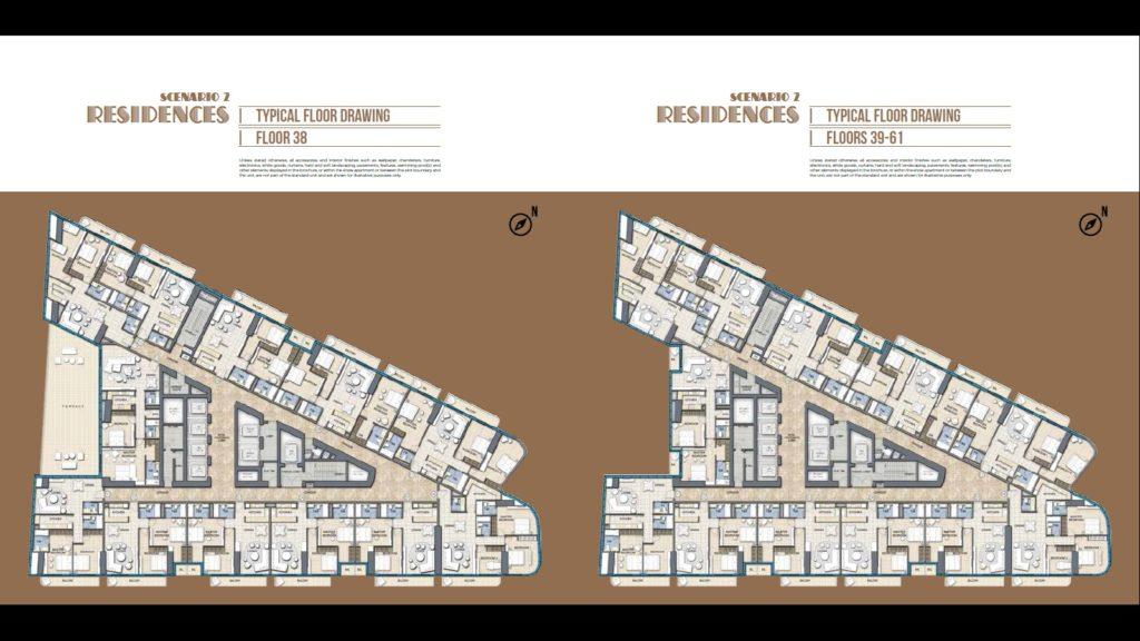 typical floor plan paramount tower dubai