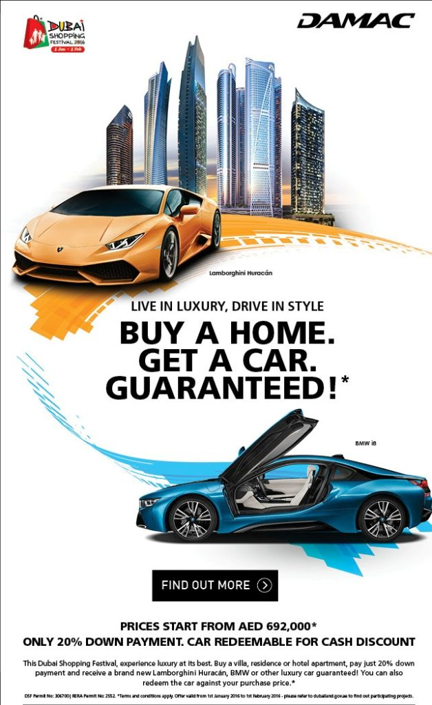 Damac Car Offer