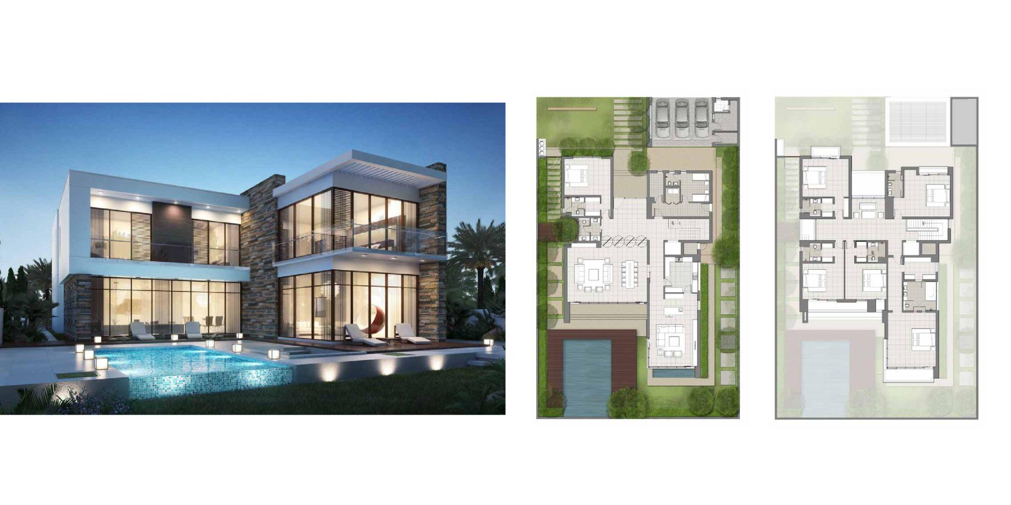 Akoya By Damac Villas floor Plan