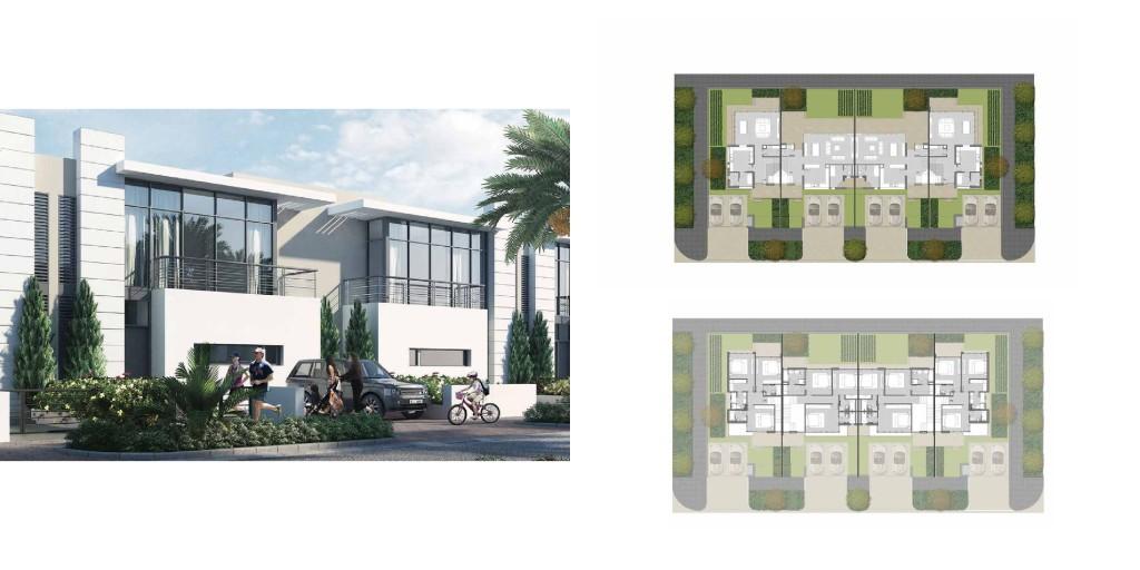 Akoya By Damac Villas layouts