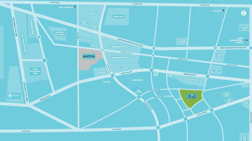 Akoya Mod Location Map