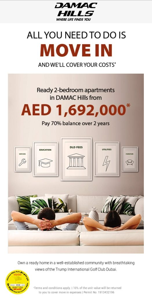 Ready To move in Damac hills in AED 1692000*