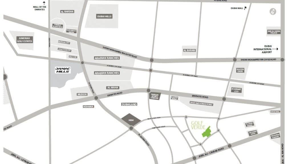Akoya golf ferde Location map